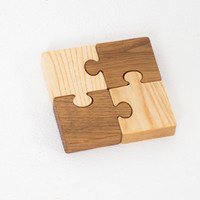 Wooden Jigsaw Puzzle Learning toys for kids Waldorf inspired Handmade toys Eco friendly Montessori toys Educational