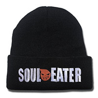 KIMUS Soul Eater Logo Beanie Fashion Unisex Embroidery Beanies Skullies Knitted Hats Skull Caps