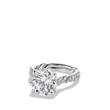 DY Wisteria Engagement Ring in Platinum