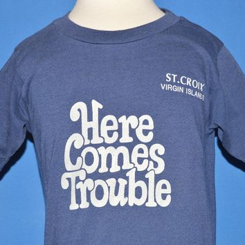 80s Here Comes Trouble St. Croix t-shirt Youth Small