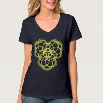 Women's Hanes Nano V-Neck Sacred Geometry T-Shirt