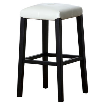 England Leather Barstool, Off-White, Bar & Counter Stools