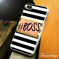 Boss Glitter and Bow iPhone 4 5 5c 6 Plus Case, Samsung Galaxy S3 S4 S5 Note 3 4 Case, iPod 4 5 Case, HtC One M7 M8 and Nexus Case