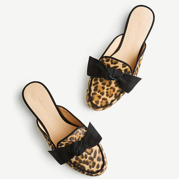 Siena Haircalf Bow Loafer Slides | Ann Taylor