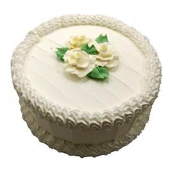 PRCKF94 9In Vanilla Flower Faux Fake Birthday Cake Photo Prop