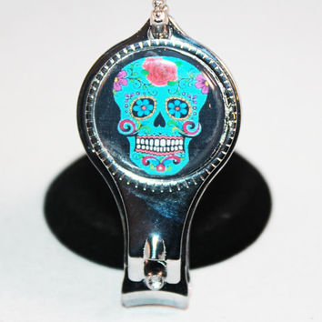 Sugar Skull Nail Clippers - Bottle Opener