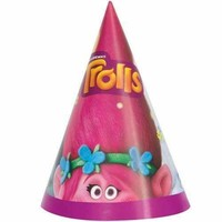 Trolls Party Hats [8 per Pack]