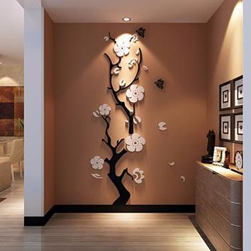 3D Three Dimensional Crystal Acrylic wall stickers