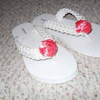 Bride/Bridal Paracord Flip Flops, custom flip flops, custom color flip flops, flip flops, wedding flip flops, bridesmaid gift, bridal shower