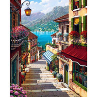 Landscape Painting By Numbers DIY Digital Canvas Oil Painting Gift Craft Picture Coloring By Numbers Home Decoration Wall Art