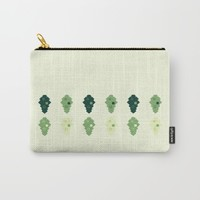 oak leaves. cubistic. Carry-All Pouch by Ia Po