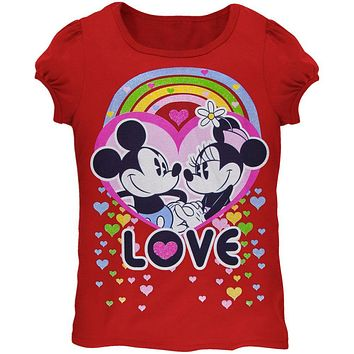 Minnie Mouse - Mickey Forever Love Juvy Girls T-Shirt
