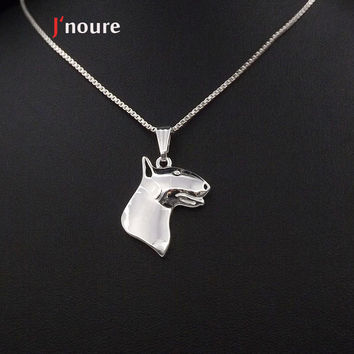 PitBull Terrier silver Plating For Pet Lovers Dog Animal Charms necklace&pendant Gift For Women A118S