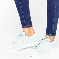 adidas Originals Mint Suede Superstar Trainers at asos.com