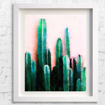 Cactus Print, Cactus Art, Pink, Mexican, Arizona, South Western, Desert, Art Print, Plant Print Wall Art Decor, Pic no 8