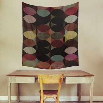 Circles V Wall Tapestry by Metron