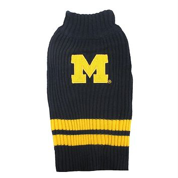 Michigan Wolverines Pet Sweater