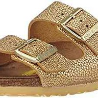 Birkenstock womens Arizona in Pebbles Metallic Gold from Leather Sandals 42.0 EU N