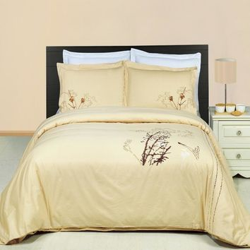 Katella 3PC Printed Combed cotton Duvet Cover Set