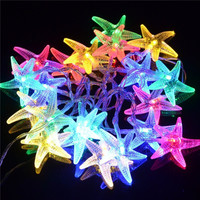 20 LED Beach Party String Lights with Starfish Covers