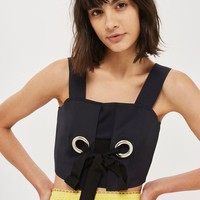 Large Eyelet Detail Bralet - New In Fashion - New In