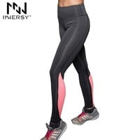 CREYON3R Innersy Fashion Women Sport Capris Elastic Patchwork Pants for Running Fitness Dry Quick Workout Leggings pantalones mujer Jzh72