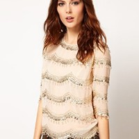River Island Top with Embellishment at asos.com