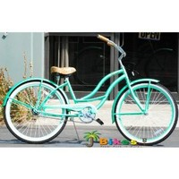 "Amazon.com: J Bikes Chloe 26"" Women's 1-speed Beach Cruiser Bicycle Mint Green Bike: Sports & Outdoors"