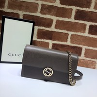 Gucci Leather mini chain bag