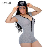 Women Playsuit Romper Fitness Sportsuit Rompers Womens Jumpsuit 2017 New Short Sleeve Summer Sexy Overalls For Women