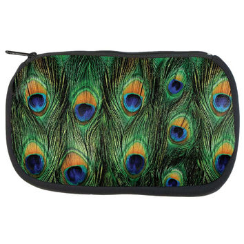 Peacock Feathers Makeup Bag