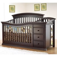 Sorelle Verona 4-in-1 Convertible Crib and Changer, Espresso