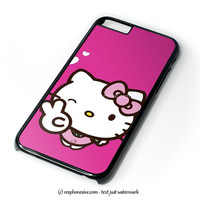 Hello Kitty Girl iPhone 4 4S 5 5S 5C 6 6 Plus , iPod 4 5  , Samsung Galaxy S3 S4 S5 Note 3 Note 4 , and HTC One X M7 M8 Case