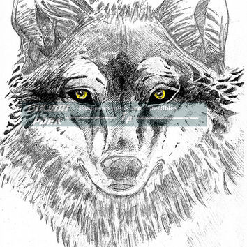 Wolf Artwork, Wall Art Print, Animal Wall Decor, Wolf Picture, Wildlife Art, Wolf Drawing, Gift Idea, Nature Photo Print, Wolf Room Decor,
