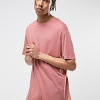 Bershka Oversized T-Shirt In Pink at asos.com