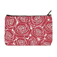 Roses Zipper Pouch in Canvas