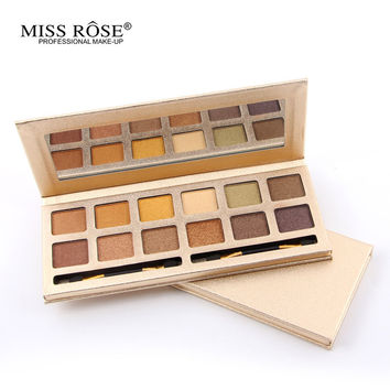 MISS ROSE Naked Makeup Palette Natural shimmer shine 12 Colors Eye Shadow Sombra pallete Nude Matte Eyeshadow Palette pigment