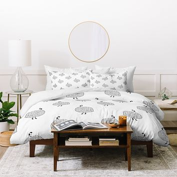 Kangarui Guinea Fowls On Safari Duvet Cover