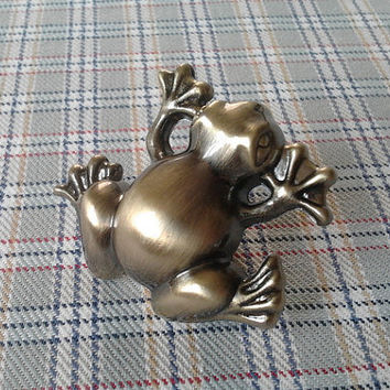 Kids Dresser Drawer Knobs Pulls Handles Frog Antique Brass / Baby Animal Decorative Knob / Childrens Cabinet Knobs Handle Pull Hardware D28
