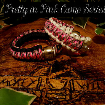 Paracord Pipe Bracelet - Pretty in Pink Camo Series