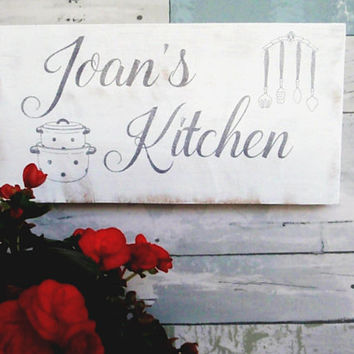 Personalized kitchen sign - Custom name kitchen sign - Rustic custom sign - Farmhouse kitchen sign - Gift for mom - Gift for cook