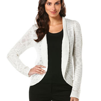 Rafaella Slub Knit Sweater Cardigan