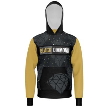Black Diamond Gold Men Lightweight Pullover Hoodie