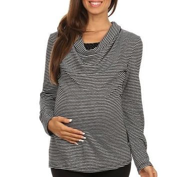 Mia Maternity and Nursing Top -  Cowl Neck with Long Sleeves Top