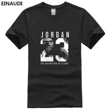 Fashion EINAUDI 2017 Jordan 23 Shining Printed T-shirt Hip-hop Man Cotton Jordan O-neck Short T-shirts Casual Camisa Tee JD667