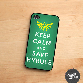iPhone 5 Case Keep Calm and Save Hyrule zelda iPhone 5S Case, iPhone 4/4S Case, iPhone 5C Case