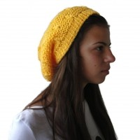 Hand knitted Ladies hat / beret type / from soft and gentle acrylic yarn. Free shipping!