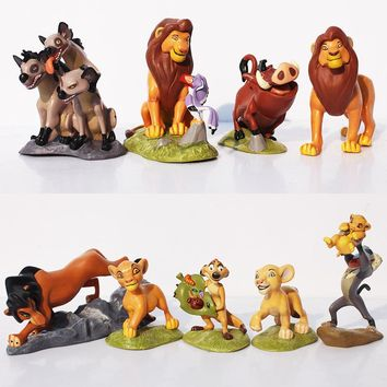 9Pcs/Set The Lion King Figures Simba Mufasa Nala Hyenas Timon Pumbaa Sarabi Sarafina Scar PVC Action Figure Dolls Toys 5~9cm