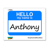 Anthony Hello My Name Is Sticker