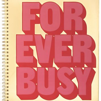 Forever Busy Large Rough Draft Notebook by Bando